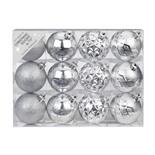 Набор ёлочных шаров INGE'S Christmas Decor 81195G257 d 6 см, серебро (12 шт)