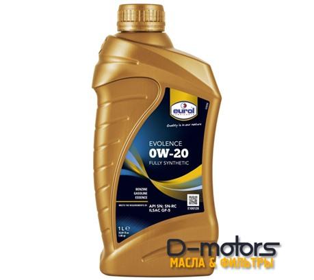 Моторное масло Eurol Evolence 0W-20 (1л.)