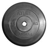 Блин для штанги обрезиненный MB Atlet d-31 15 кг