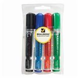 Маркеры для доски Brauberg Neo с клипом, линия 5 мм 4 цвета 150491