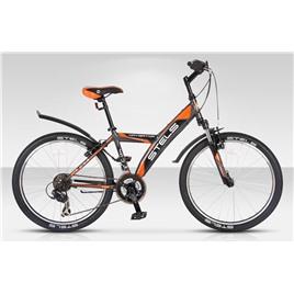 Велосипед Stels Navigator 410 V 24 (2016) Серый/Оранжевый/Черный, интернет-магазин Sportcoast.ru