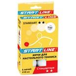 Мяч для настольного тенниса 2* Standart, белый, 6 шт.