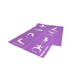 Складной коврик для йоги 4 мм (с упражнениями)
