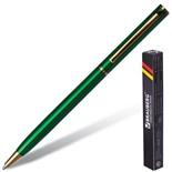 Ручка шариковая Brauberg Slim Green линия 0,7 мм 141404