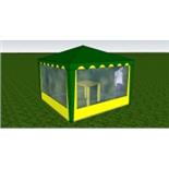 Стенка с окном 3,0х2,0  (к шатру Митек 3х3 и 6х3) (Красный)